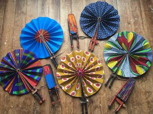 Handheld Original Ghanaian Fans for Sale in Holdrege, NE