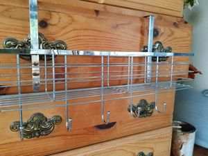 Over the door basket with hooks for Sale in Houston, TX