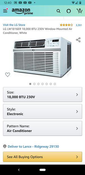 LG, 18,000 BTU 230v, window AC unit for Sale in Columbia, SC