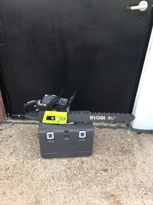 "Ryobi chain saw 20"" gas for Sale in Arlington, TX"