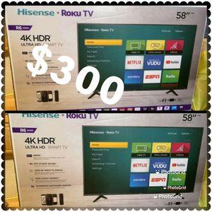 58 INCH HISENSE SMART TV ROKU 4K NEW 📺 ULTRA HD 4K for Sale in Anaheim, CA