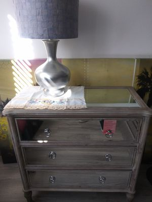 Nice 3 drawer glass chest $150 for Sale in Seminole, FL