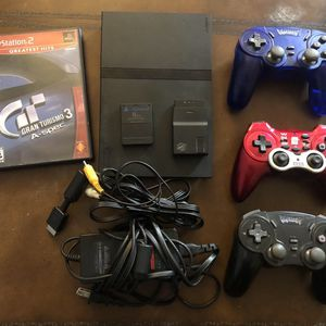 Ps2 Slim With 3 Wireless Controllers for Sale in Pompano Beach, FL