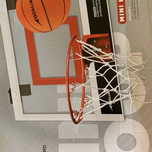 "NEW GOALIATH 18"" Over the Door Mini Basketball Hoop Set with Shatterproof Backboard Perfect for Home or Office for Sale in Lake Forest, CA"