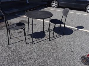 3 pc's set's for $15.00, small round table with same matching two chair's...not Foldings for Sale in Jonesboro, GA