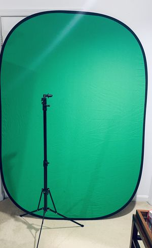 Fotodiox Collapsible Blue/Green Background Screen w/ Stand for Photo/Video for Sale in Herndon, VA