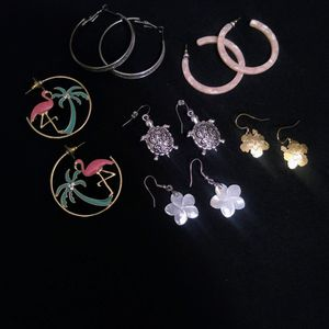Sterling Silver Hoop/Pendant Earring Lot for Sale in Glen Burnie, MD