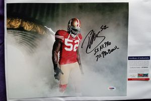 Patrick Willis Signed 11x14 Photo w/ Inscription PSA/DNA COA San Francisco 49ers for Sale in Hayward, CA