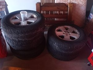 Jeep wheels and tires for Sale in Dublin, PA