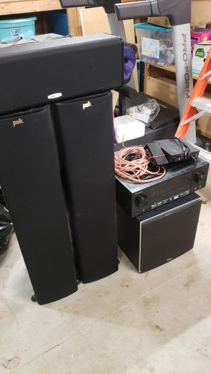 Pioneer Amp with Polk Speakers with Subwoofer for Sale in Vancouver, WA