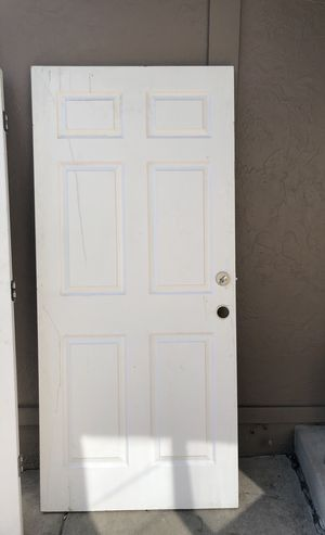 """Solid core 6 panel door 35 1/8""""W 80"""" H (no frame) for Sale in Denver, CO"""