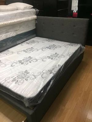 Bed frame with mattress Queen Size for Sale in Long Beach, CA
