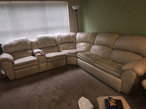 White leather sectional couch for Sale in Bel Air, MD