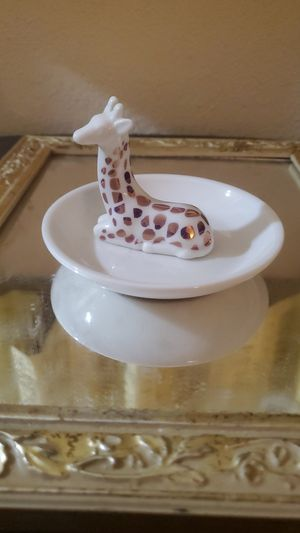 Adorable painted porcelain giraffe little plate Trinkett thing colder decore for Sale in Tempe, AZ