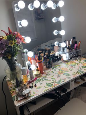 Vanity mirror, table and chair!! for Sale in San Francisco, CA