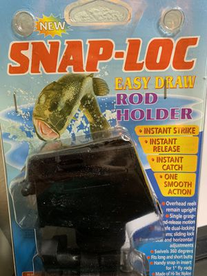 NEW Snap-Loc Pro Easy Draw Fishing Pole Rod Holder! New Gear for Sale in Santa Clarita, CA