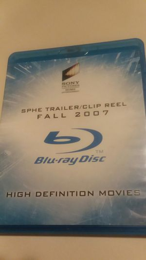 SPHE TRAILER/CLIP REEL FALL 2007 BLU RAY DISC for Sale in Wilmington, DE