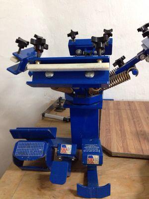 4 color manual press screen printing for Sale in Boston, MA