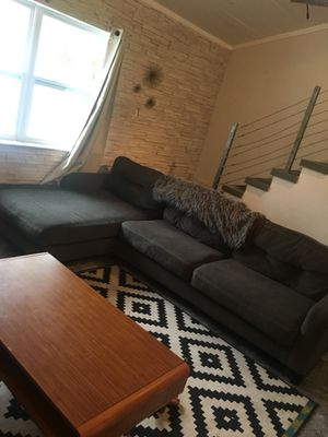 Slate grey sectional couch for Sale in Tampa, FL