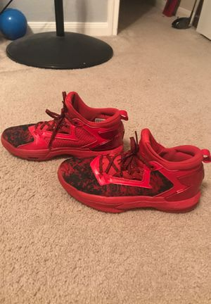 Men's Adidas Damian Lillard red basketball shoes size 8.5 for Sale in Round Rock, TX