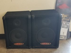 Used Crate Pro Audio PE10T Speaker Cabinet (pair) (10s and Horn) for Sale in Lincoln Acres, CA