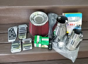 Car racing Parts Intake Silencer Super Beam light Car pedals Stick Shift Nobs Muffler for Sale in Lynnwood, WA