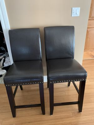 "3 Fox Leather Bar Stools 25"" inches $120 for all for Sale in Los Angeles, CA"
