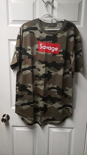 Brand New with tags Savage Green Camo Shirt 2XL by Carbon for Sale in Evans City, PA