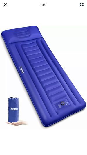 Sable SA-HF069 Camping Sleeping Pad Self Inflating Camping Mat Built-in Pillow for Sale in Los Angeles, CA