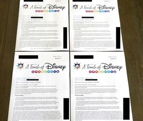 A Touch Of Disney 4 Tickets Friday April 16, 2021 for Sale in Chino Hills,  CA