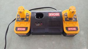 RYOBI drill batteries and charger port for Sale in Davenport, IA
