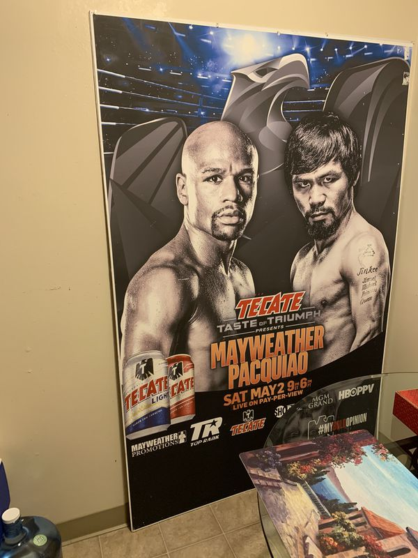Boxing cuality poster picture mayweater vs pacciao