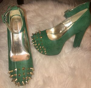 Like-new Green heels for Sale in Washington, DC