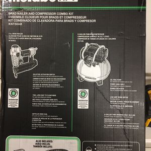 Metabo HPT BRAD NAILER AND COMPRESSOR COMBO KIT for Sale in Las Vegas, NV