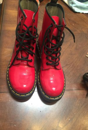 Red Dr. martens size 7 for Sale in Los Angeles, CA