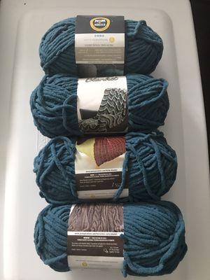 Teal Bernat yarn blanket for Sale in Parkland, FL