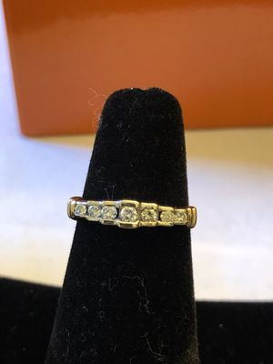 10k real gold& Diamond ring,2 tone gold, 7 good quality &size diamond,1.96 grams,size 4.5.nice design ring,please look at all pictures for more detai for Sale in Aurora, IL