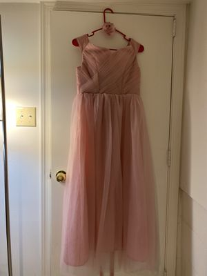 Bridesmaid prom dress light pink wedding size 2 to 4 for Sale in Los Angeles, CA