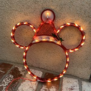 "DISNEY LIGHT UP MICKEY HEAD CHRISTMAS DECORATION! ABOUT 12"" TALL! for Sale in Seal Beach, CA"