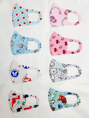 5pcs kids face mask reusable washable cloth face cover for Sale in Diamond Bar, CA