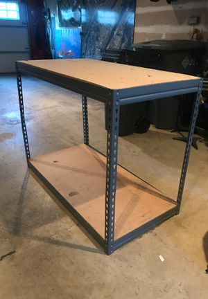 """Work Bench, storage shelves, 48.5""""w X 24.5""""d X 36""""h for Sale in Puyallup, WA"""
