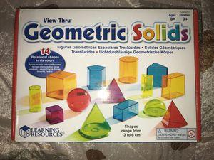 Geometric Solids Kids Toy for Sale in Burke, VA