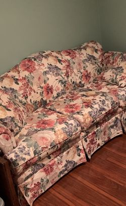 Floral sofa and ottoman for Sale in Round Rock,  TX