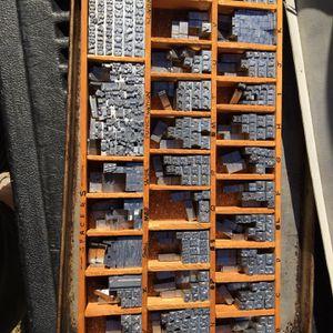 Vintage Printing Type for Sale in San Bernardino, CA