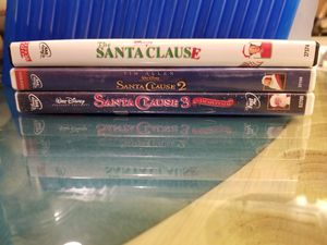 DVD , SANTA CLAUSE , SANTA CLAUSE 2 , SANTA CLAUSE 3. IN GREAT CONDITION FROM A PET FREE , SMOKE FREE HOME $5 for Sale in Scottsdale, AZ