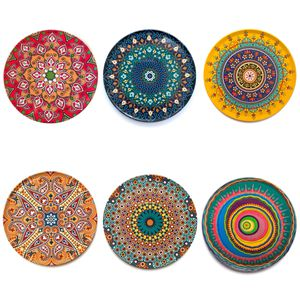 SET OF 6 Mandala Ottoman Moroccan Turkish Design Tin Cork Backed Coasters. for Sale in Schaumburg, IL