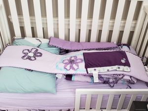 Crib set, bedding & breathing monitor for Sale in Orlando, FL