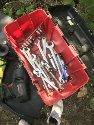 Box full of wrenches and ratchets for Sale in Chelsea, MA