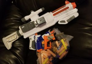 BEST OFFER! Star Wars Nerf Captain Phasma Blaster & 2 Mini Nurf Guns. Porch pick up Available for Sale in Glendale, AZ