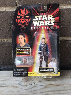 Collection 1 Star Wars episode 1 commtech Padme Naberrie 1998 action figure for Sale in Chicago, IL